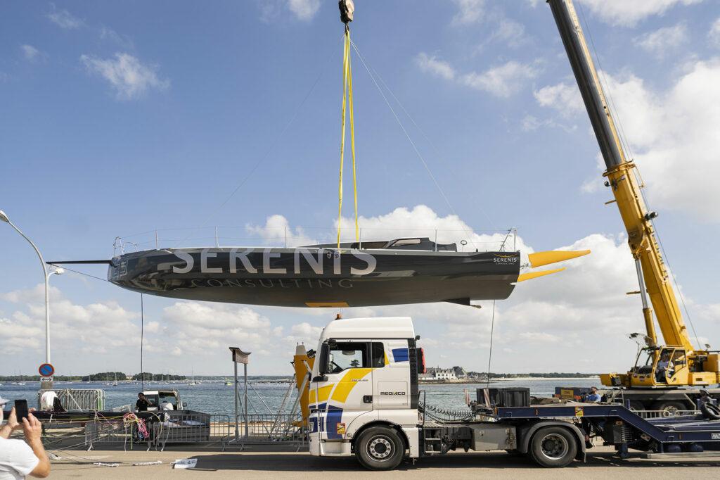 Mise à l'eau du Class40 Serenis Consulting – Le 16 Juillet 2021 à Loctudy